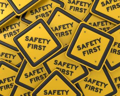 Pile of 'Safety First' Sings