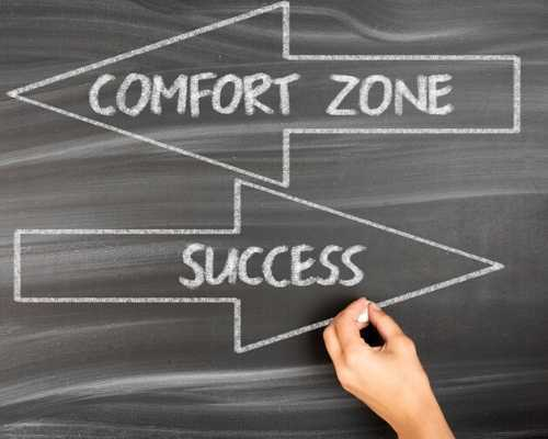 Image Showing 'Comfort Zone' in One Arrow and 'Success' in Another