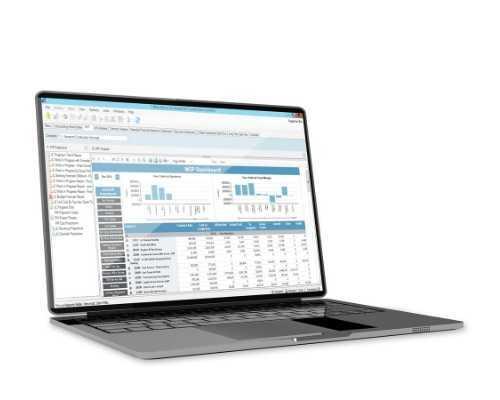 Construction Management Software on Computer