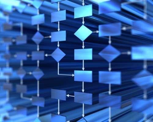 Blue Arrow Grid