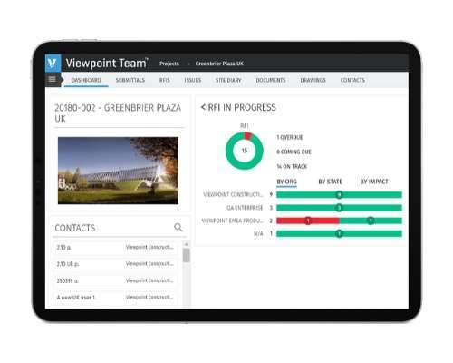 ViewpointOne Construction Solution Screenshot
