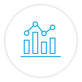Product Benefits Icon Graph With Trendline