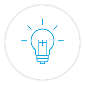 Product Benefits Icon Lightbulb Idea