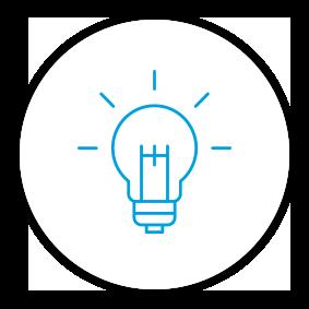 Product Benefits Icon Lightbulb Idea