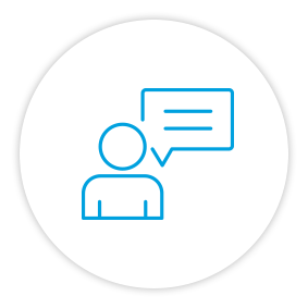 Product Benefits Icon Person Speaking