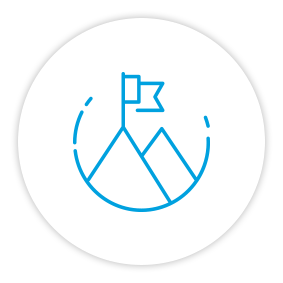 Product Benefits Icon Success Mountain