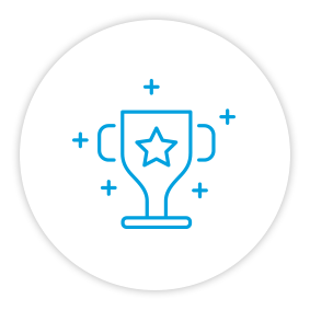 Product Benefits Icon Trophy Award
