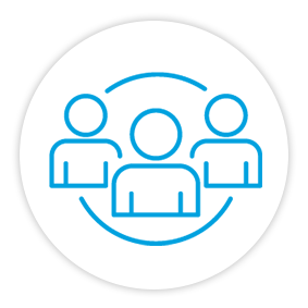 Products Benefits Icon Connected Team