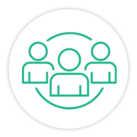 Solution Painpoint Icon Connected Team