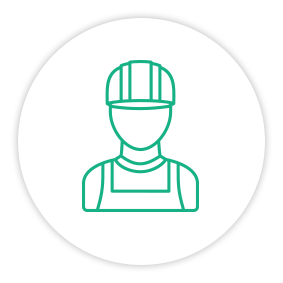 Solution Painpoint Icon Construction Field Worker