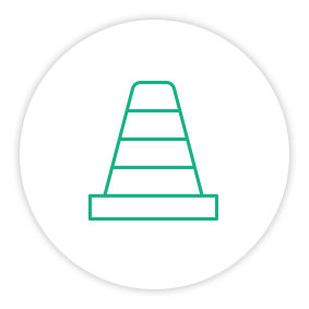 Solution Painpoint Icon Safety Cone