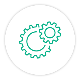 Solution Painpoint Icon Two Gears