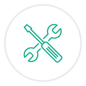 Solution Painpoint Icon Wrench And Screwdriver