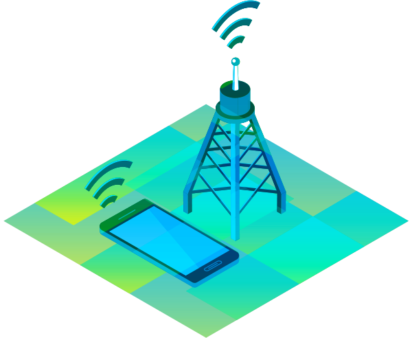 Cell Tower - Communications Illustration